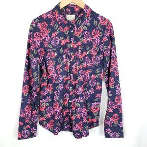 Levi's floral long sleeve western button up shirt